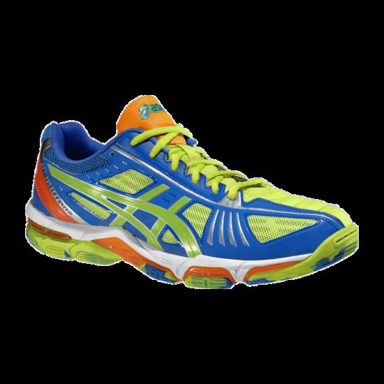 Asics Gel-Volley Elite 2 LIMITÁLT, férfi cipő, sárga, kék, fehér