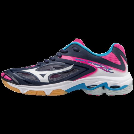 Mizuno Wave Lightning Z 3 röplabdás cipő, női, sötétkék, fehér, pink