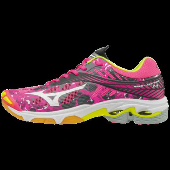 Mizuno Wave Lightning Z4 röplabdás cipő, női, pink, fehér, ezüst