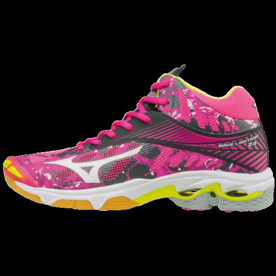 Mizuno Wave Lightning Z4 MID röplabdás cipő, női, pink, fehér, ezüst