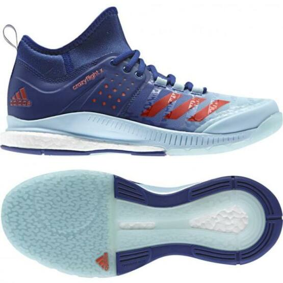 Adidas Crazyflight X Mid 2017 női röplabdás cipő, kék, fehér, piros
