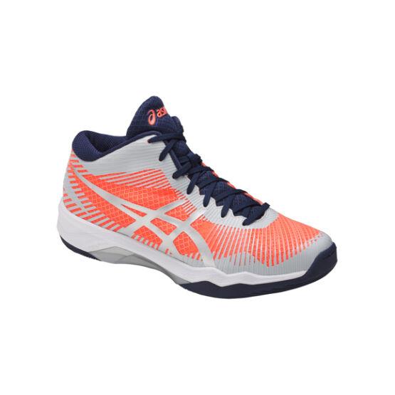 Asics Gel-Volley Elite FF MT röplabdás cipő, női, korall, szürke, fehér
