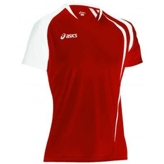Mez Asics T-Shirt Fan póló rövid ujjú felső piros,fehér férfi L