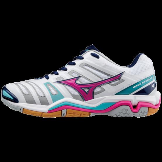 Mizuno cipő Stealth 4, fehér, pink, kék, női