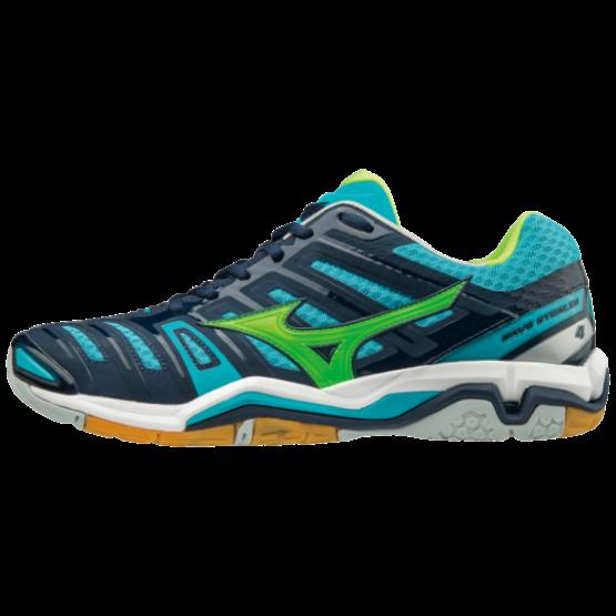 Mizuno cipő Stealth 4 kézilabdás cipő, férfi, sötétkék, kék, zöld