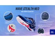 Mizuno Wave Stealth Neo, kézilabdás cipő, unisex, sötétkék