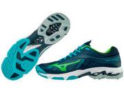 Mizuno Wave Lightning Z4 röplabdás cipő, férfi, sötétkék, türkisz, gekko zöld