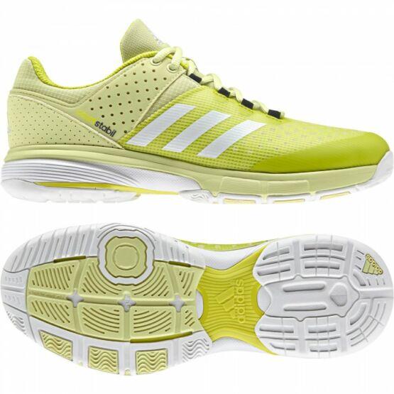 Adidas Court Stabil 13 W női kézilabdás cipő, lime, fehér (2017)