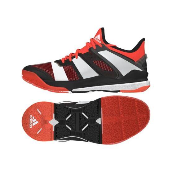 Adidas Stabil X 2017 férfi kézilabdás cipő, fekete, narancs, fehér