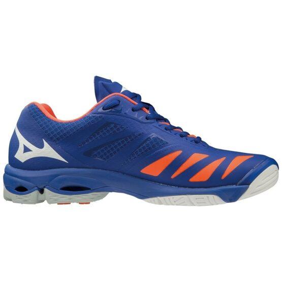 Mizuno Wave Lightning Z5 röplabdás cipő unisex kék, fehér, narancs