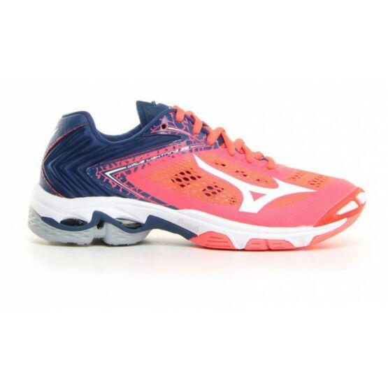 Mizuno Wave Lightning Z5 röplabdás cipő női piros, fehér, kék