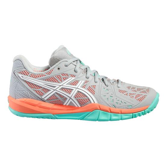 Asics Gel-Fireblast 2 kézilabda cipő, női, szürke, kék, fehér, koral