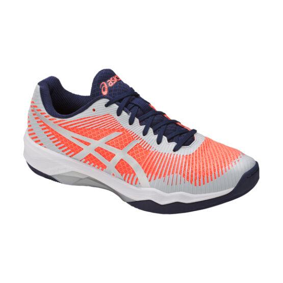 Asics Gel-Volley Elite FF röplabdás cipő, női, korall, szürke, fehér