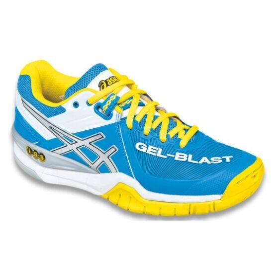 Asics Gel-Blast 6 női teremcipő, kék-sárga-fehér