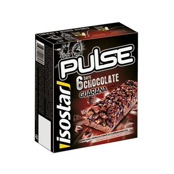 Isostar Pulse müzliszelet, csokoládé & guarana 6x23g