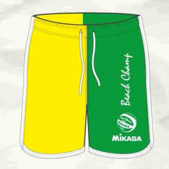 Mikasa strandröplabda nadrág, férfi, limitált, zöld, neon sárga