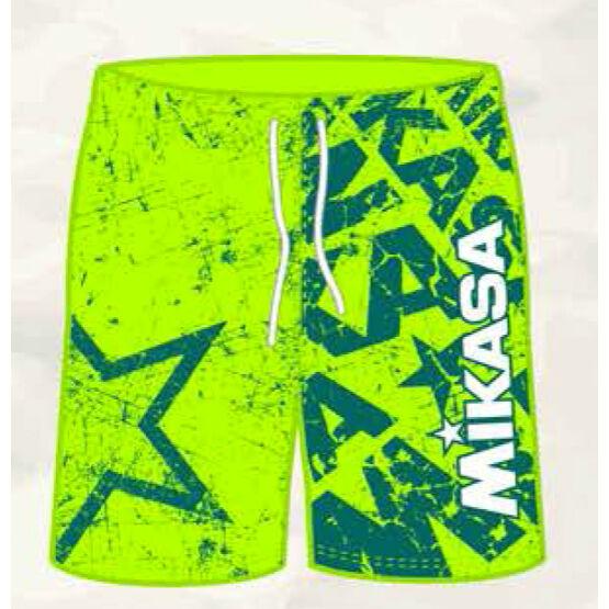 Mikasa strandröplabda nadrág, férfi, limitált, sárga, zöld