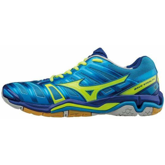 Mizuno cipő Stealth 4, kék, sárga, unisex