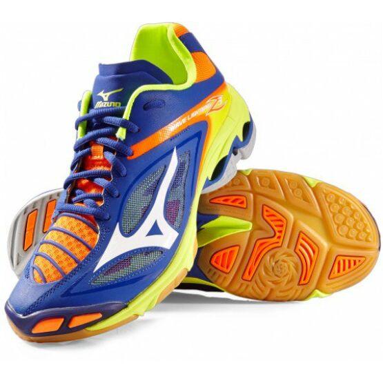 Mizuno Wave Lightning Z3 röplabdás cipő, férfi, navy, narancs, lime
