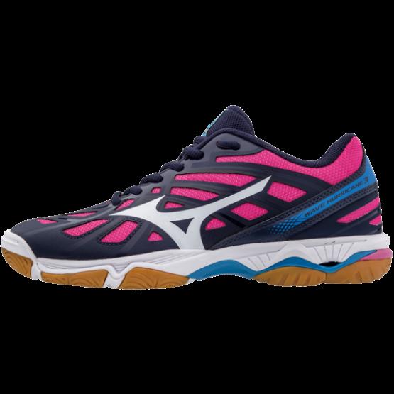 Mizuno Hurricane 3 röplabdás cipő, női, sötétkék, pink, fehér