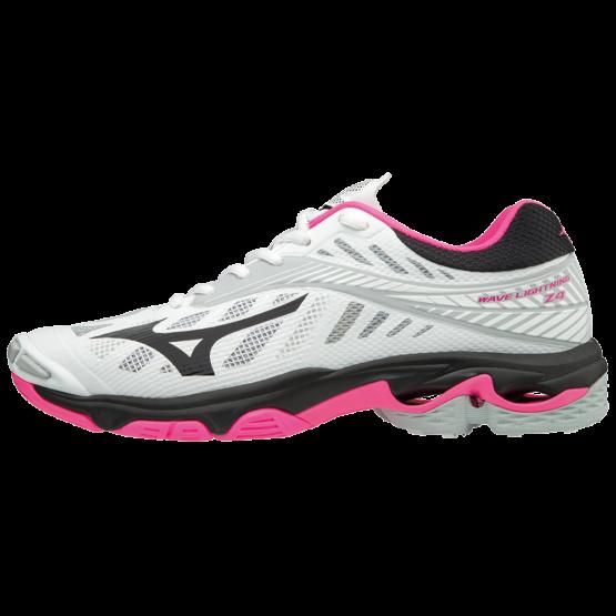 MIZUNO WAVE LIGHTNING Z4 Női röplabda cipő fehér / rózsaszín