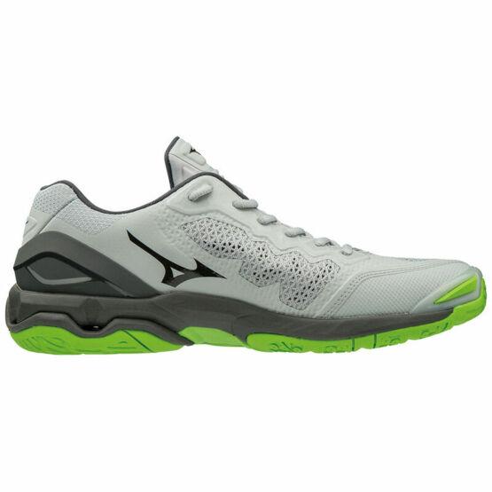 Mizuno Wave Stealth V kézilabdás cipő, férfi, szürke, fekete, zöld