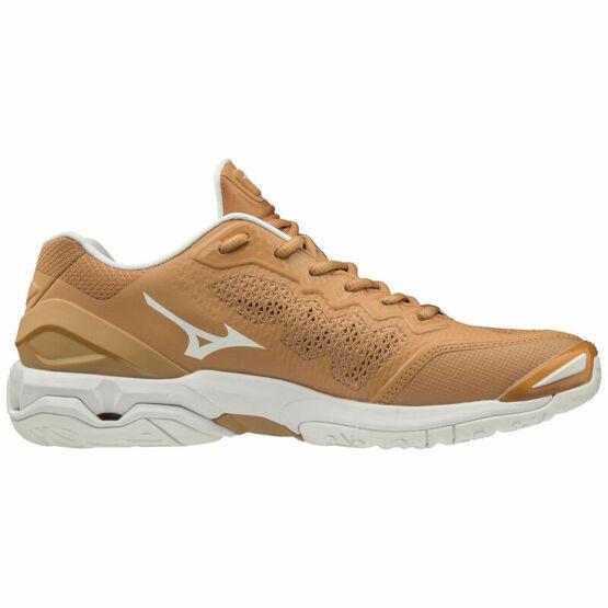 Mizuno Wave Stealth V kézilabdás cipő, barna, fehér