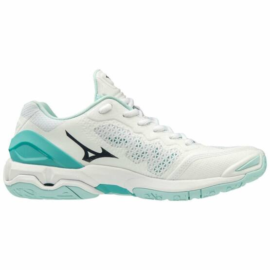 Mizuno Wave Stealth V kézilabdás cipő, női, fehér, türkiz
