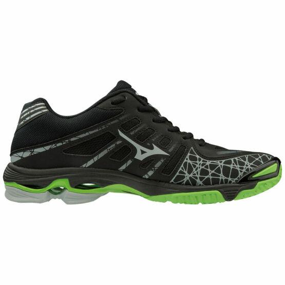 Mizuno Wave Voltage röplabdás cipő férfi, fekete, zöld
