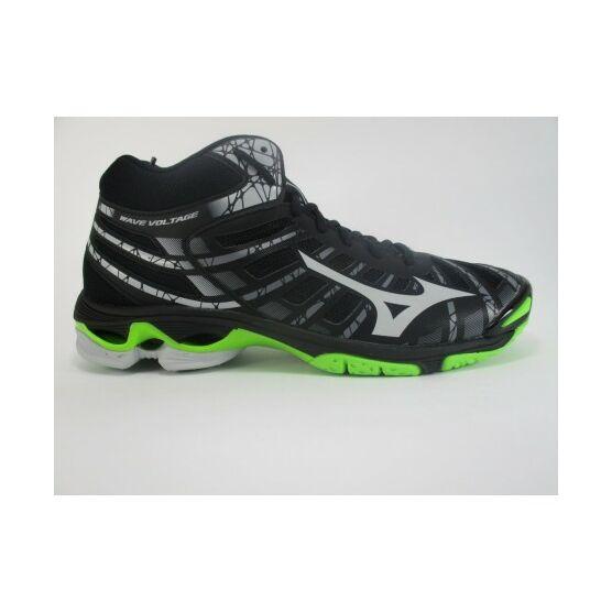 Mizuno Wave Voltage MID röplabdás cipő férfi, fekete, zöld