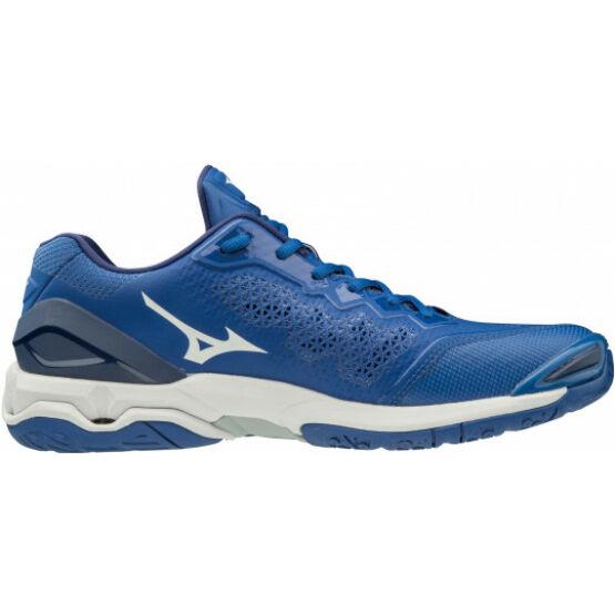 Mizuno Wave Stealth V, kézilabdás cipő, unisex, kék-fehér