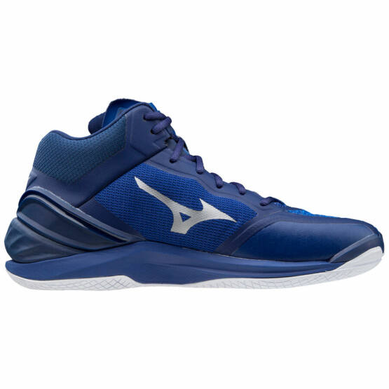 Mizuno Wave Stealth Neo Mid, kézilabdás cipő, unisex, kék-ezüst
