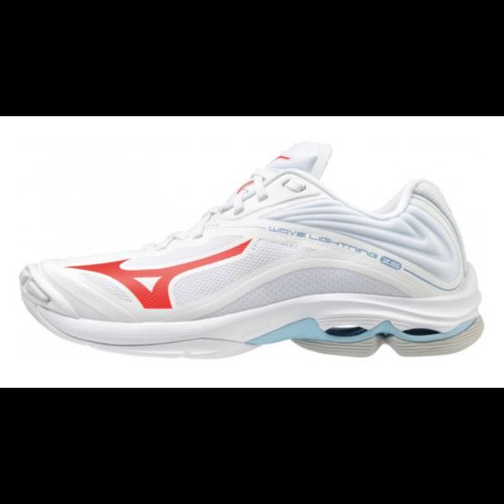 Mizuno Wave Lightning Z6 röplabdás cipő női, fehér/piros