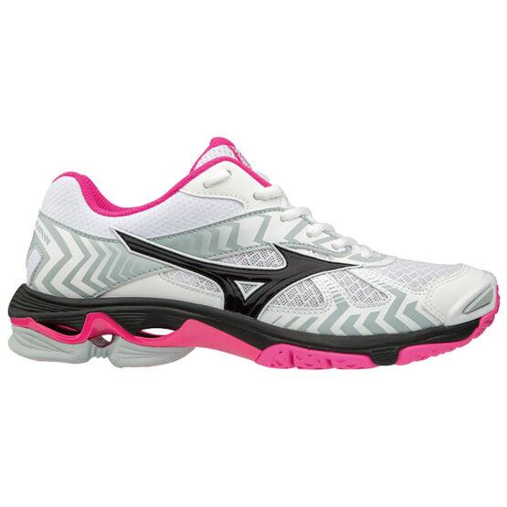 Mizuno Wave Bolt 7 cipő női fehér, fekete, pink