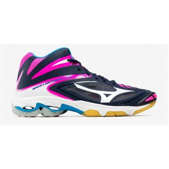 Mizuno Wave Lightning Z3 MID röplabdás cipő, női, sötétkék, fehér, pink