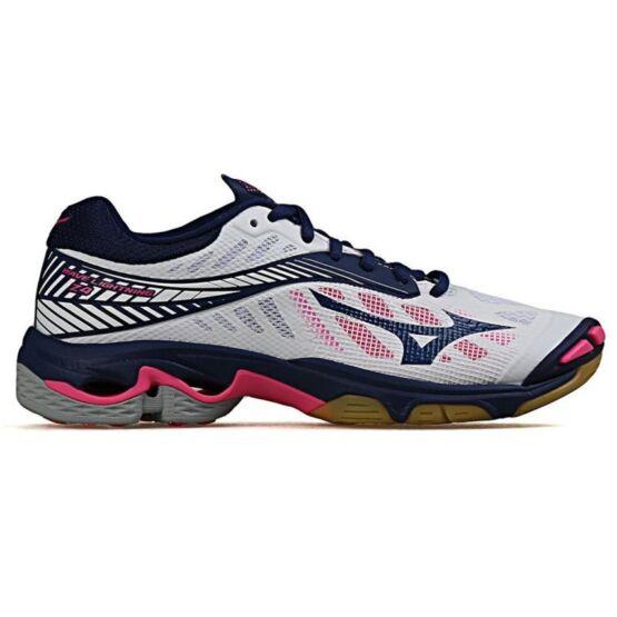 Mizuno Wave Lightning Z4 röplabdás cipő, női, fehér, kék, pink