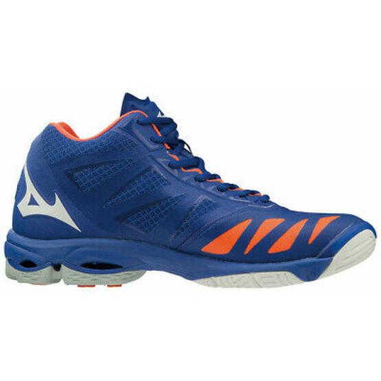 Mizuno Wave Lightning Z5 MID röplabdás cipő unisex kék, fehér, narancs