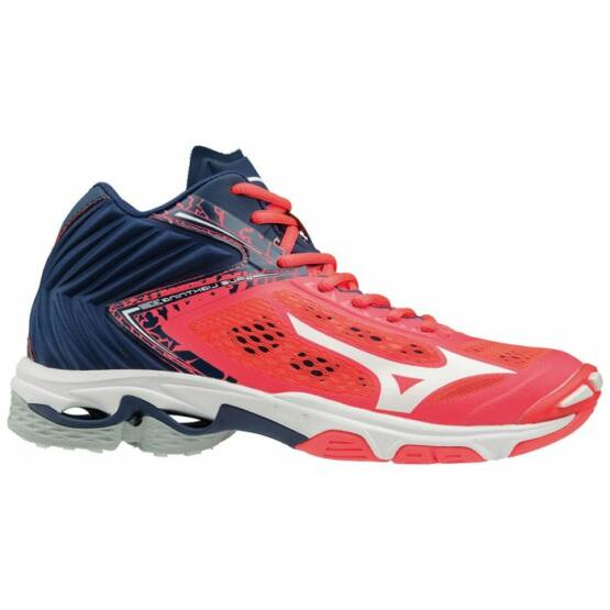 Mizuno Wave Lightning Z5 MID röplabdás cipő női piros, fehér, kék