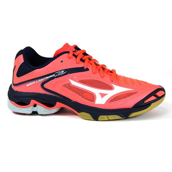 Mizuno Lightning Z3, női röplabdás cipő, korallpiros, fehér, sötétkék