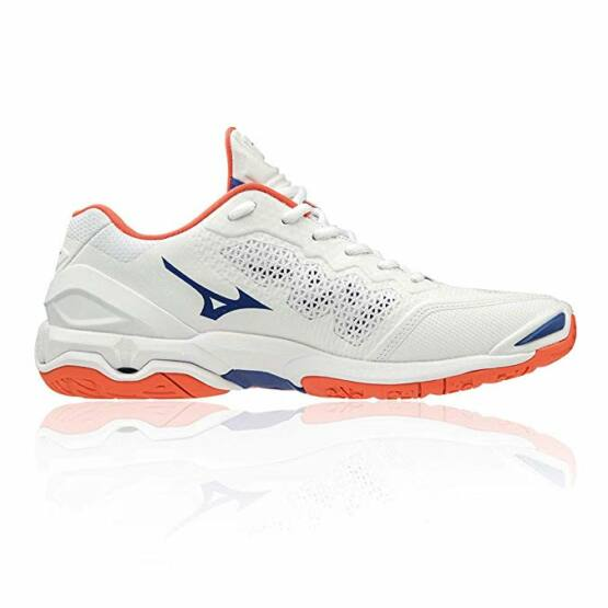 Mizuno Wave Stealth V kézilabdás cipő, férfi, fehér, kék, narancs