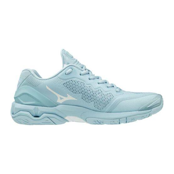 Mizuno Wave Stealth V kézilabdás cipő, női, világoskék, fehér
