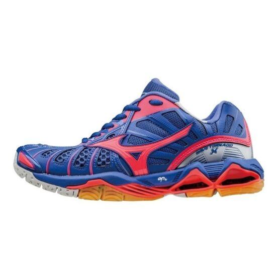 Mizuno Wave Tornado X röplabdás cipő női, kék, pink