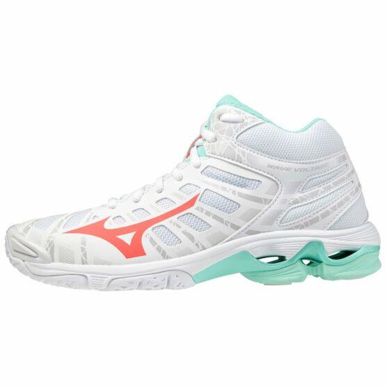 Mizuno Wave Voltage MID röplabdás cipő fehér, menta