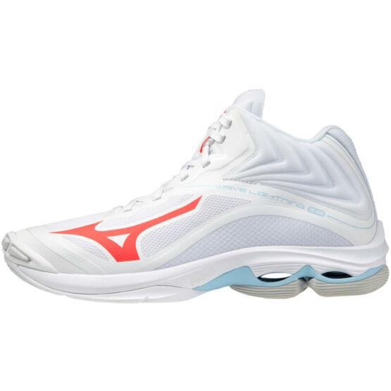 Mizuno Wave Lightning Z6 MID röplabdás cipő unisex, fehér-piros