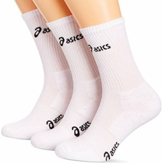 Zokni Asics 3PPKCrew Sock, pamut 3 pár egy csomagban fehér unisex